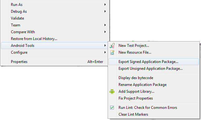step 1 - export_signed_application_package