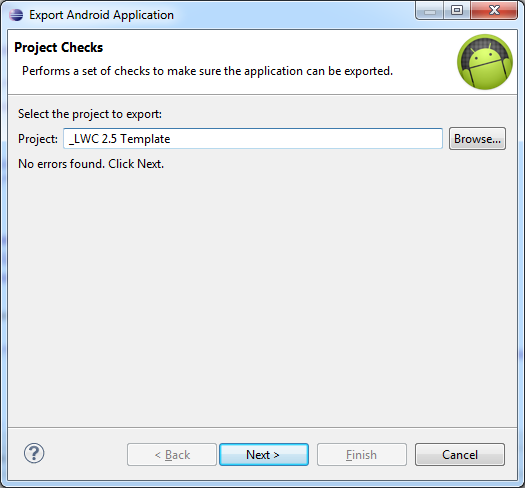 step 2 - select_project_to_export